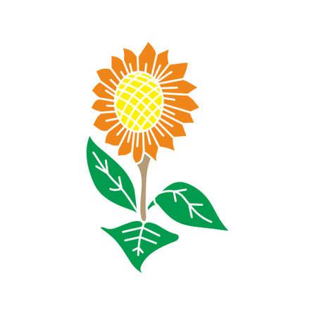 Flower Leaf Illustration Design Template Vector Imagens - 124372695