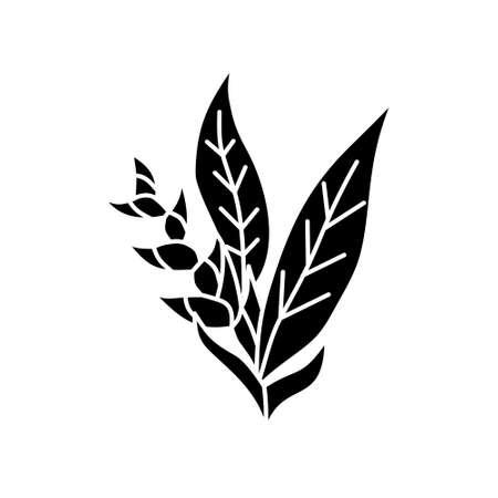 Flower Leaf Illustration Design Template Vector Imagens - 124372701