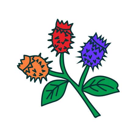 Flower Leaf Illustration Design Template Vector Illustration