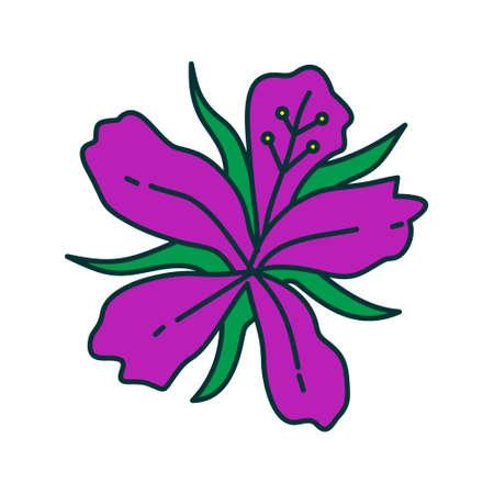 Flower Leaf Illustration Design Template Vector Imagens - 124372837