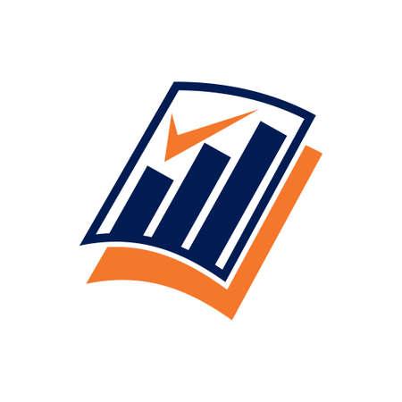 Buchhaltung Steuer Finanzgeschäft Logo Design Template Vector Logo