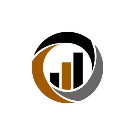 Vector de plantilla de diseño de logotipo de empresa financiera de impuestos contables