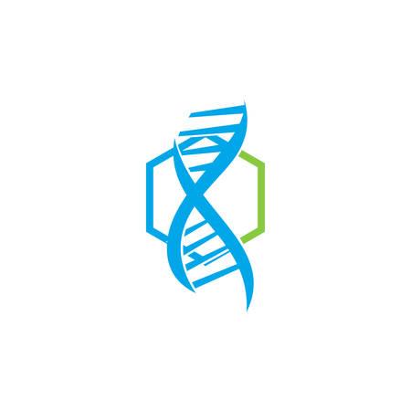 Genetic Health Logo Design Illustration Icon concept Vector Stock Illustratie