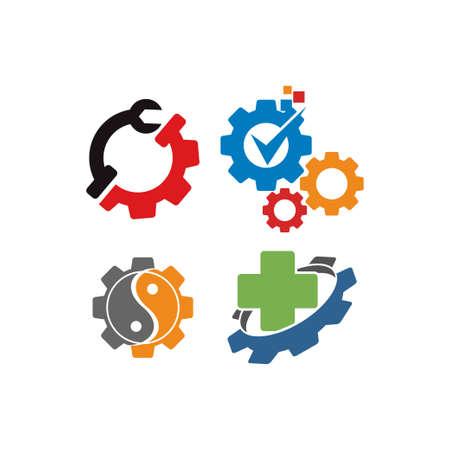 Gear Business logo design template vector Icon Set
