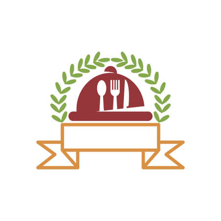 Restaurant Service Abstract Logo Template Symbol Icon