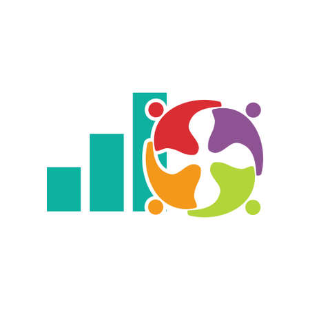 Commitment Teamwork Together Business Logo Illustration Vector