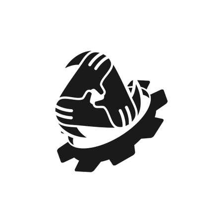 Commitment Teamwork Together Black Logo