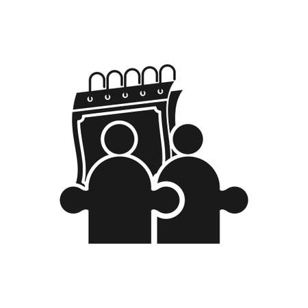 Commitment Teamwork Together Black Logo  イラスト・ベクター素材