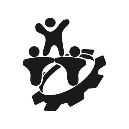 gear people Commitment Teamwork Together Black Logo Logo