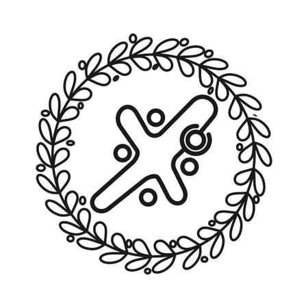 leaf Commitment Teamwork Together Black Logo Ilustrace