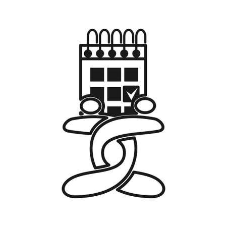 calendar appointment Commitment Teamwork Together Outline Logo