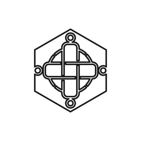 health cross Commitment Teamwork Together Outline Logo Ilustrace