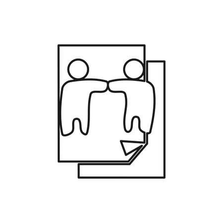 paper document Commitment Teamwork Together Outline Logo