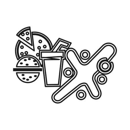 Food Drink Commitment Teamwork Together Outline Logo