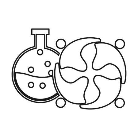 Laboratory Commitment Teamwork Together Outline Logo 일러스트