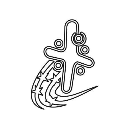 Star swash  solution Commitment Teamwork Together Outline Logo Ilustração