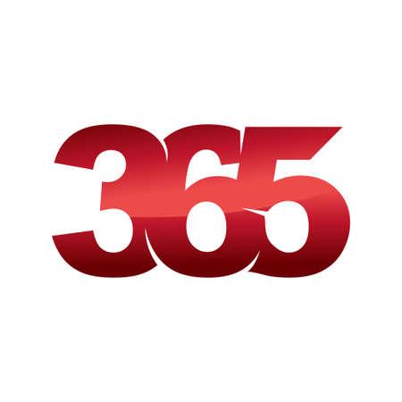 Emblem 365 infinity logo icon design illustration vector color Ilustração