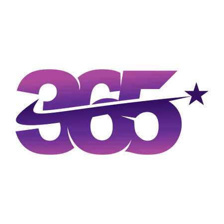 star swash 365 infinity logo icon design illustration vector