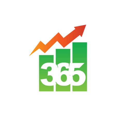 bar business 365 infinity logo icon design illustration vector