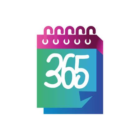 calendar 365 infinity logo icon design illustration vector Ilustração