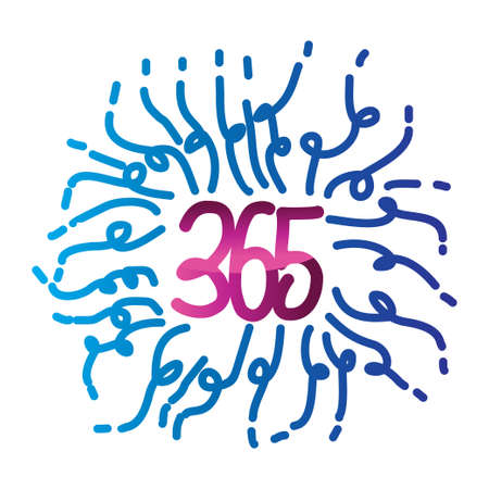 celebration 365 infinity logo icon design illustration vector