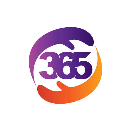 hand care 365 infinity logo icon design illustration vector