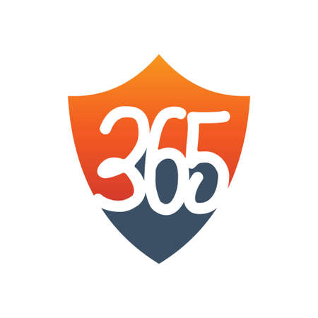 shield protection 365 infinity logo icon design illustration vector Ilustração