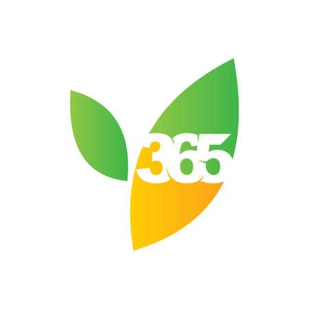 leaf farm 365 infinity logo icon design illustration vector Ilustração