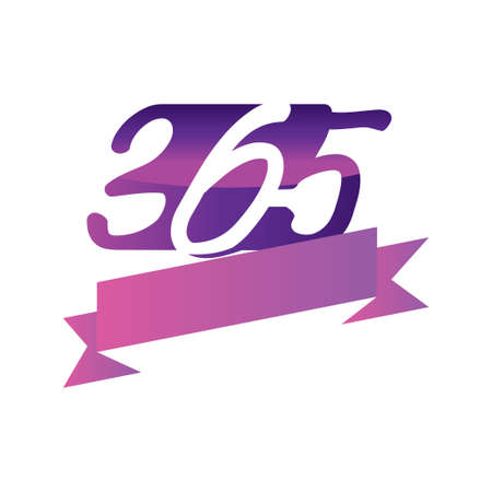 ribbon empty 365 infinity logo icon design illustration vector