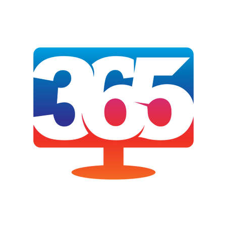 Monitor 365 infinity logo icon design illustration vector
