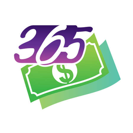 money finance 365 infinity logo icon design illustration vector Ilustração