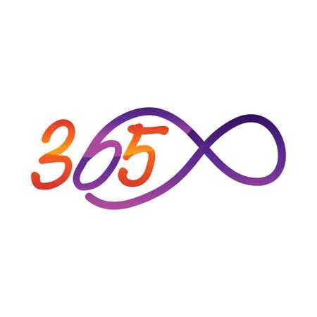 eternal 365 infinity logo icon design illustration vector Ilustração
