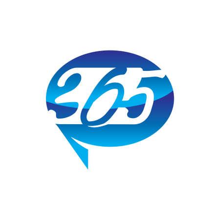 Balloon communication 365 infinity logo icon design illustration