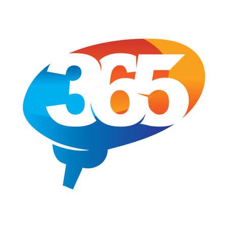 brain idea 365 infinity logo icon design illustration vector