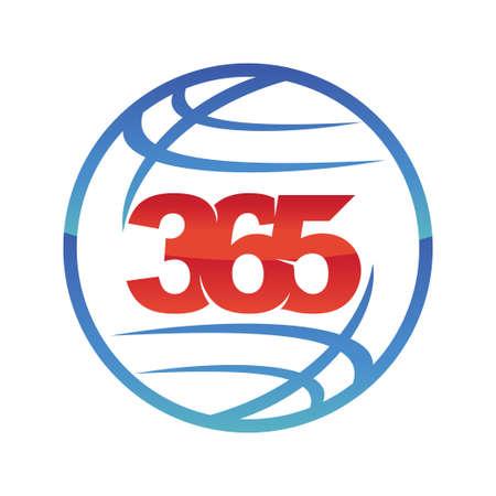 world global 365 infinity logo icon design illustration vector
