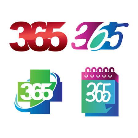 health calendar 365 infinity logo icon design illustration Çizim