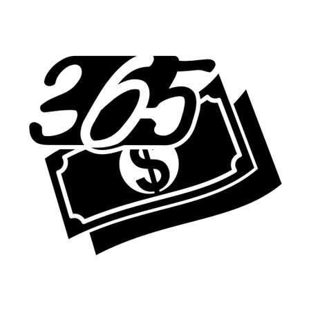 money finance 365 infinity logo icon design illustration black Ilustração