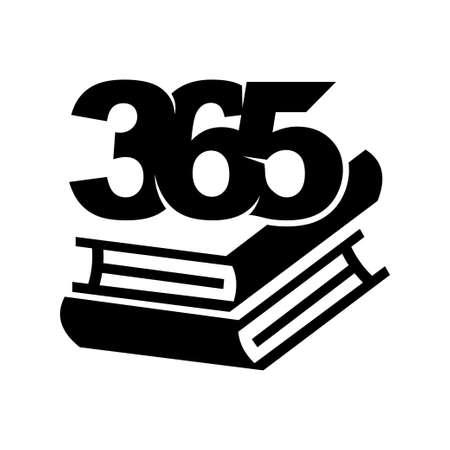 book stack 365 infinity logo icon design illustration black