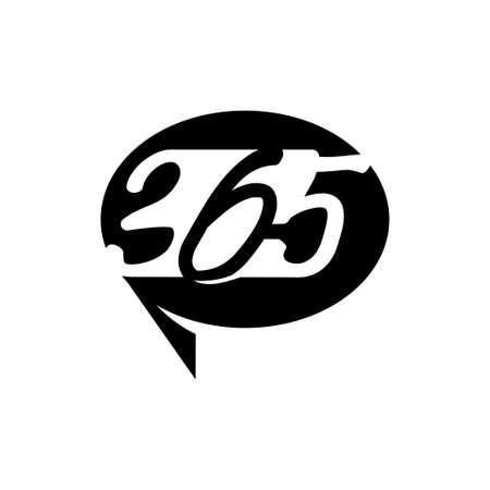 Balloon communication 365 infinity logo icon design black