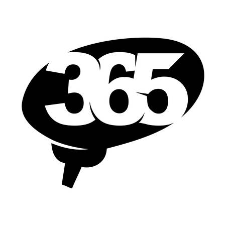 brain idea 365 infinity logo icon design illustration black Çizim