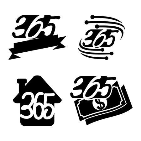 ribbon home money technology 365 infinity logo icon black