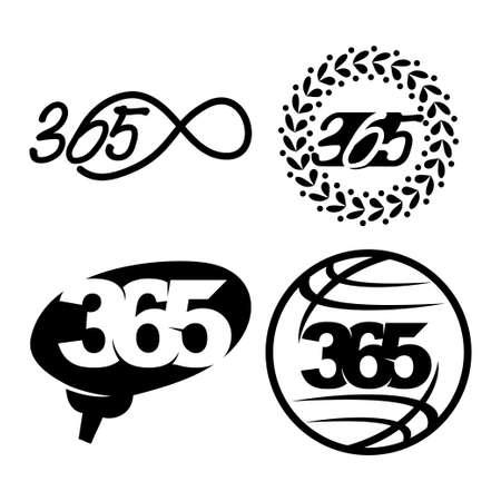 leaf brain world 365 infinity logo icon black illustration Çizim