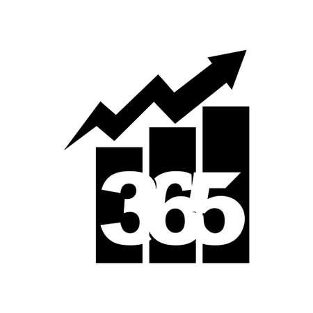 bar business 365 infinity logo icon design illustration black