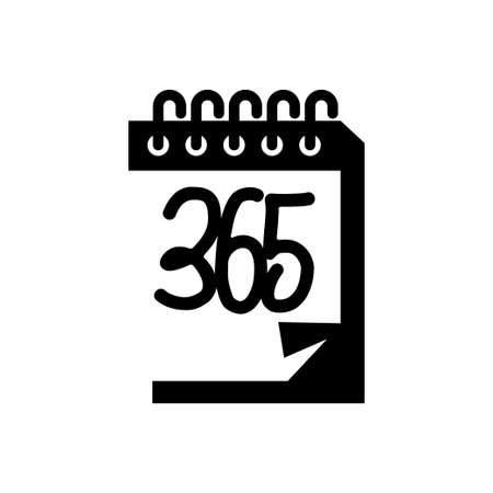 calendar 365 infinity logo icon design illustration black Ilustracja