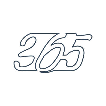 Modern 365 infinity logo icon design illustration outline
