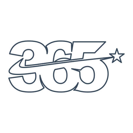star swash 365 infinity logo icon design illustration outline