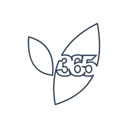 leaf farm 365 infinity logo icon design illustration outline Ilustracja