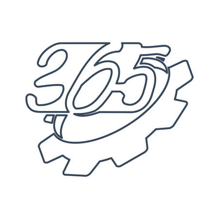 gear machine 365 infinity logo icon design illustration outline
