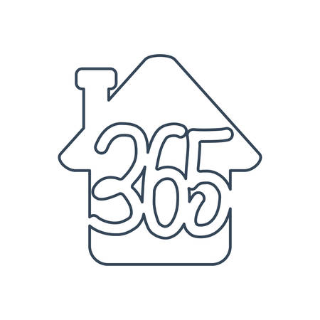 home house 365 infinity logo icon design illustration outline Ilustracja