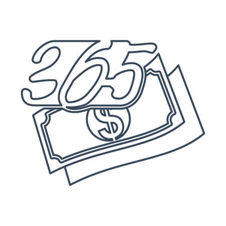 money finance 365 infinity logo icon design illustration outline
